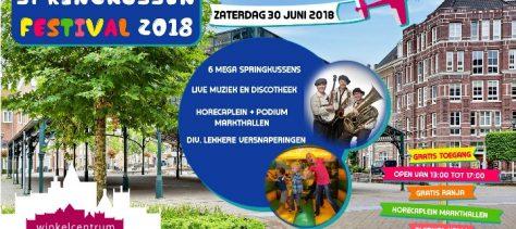 """""""Zegt het voort""""; Springkussenfestival 30 juni op de Plaetse"""