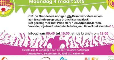 BRUNCH Carnavalesk in 't BrandPunt